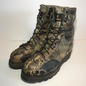 79245b77348 Browning Camouflage Hunting Boots Mens 8 M Leather